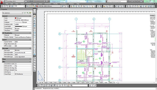CAD drawing using CAD standard